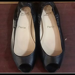 Christian Louboutin peep toe flats